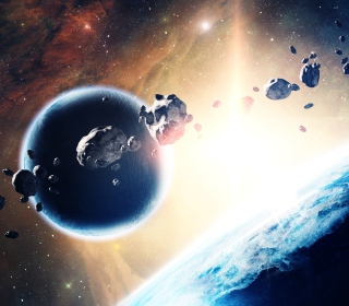 Asteroids In Space - Obrázkek zdarma pro iPad Air