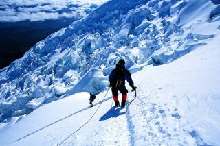 Climbers in Nepal - Obrázkek zdarma pro 800x480