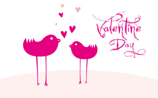 Birds And Valentines Day Wallpaper for Android, iPhone and iPad