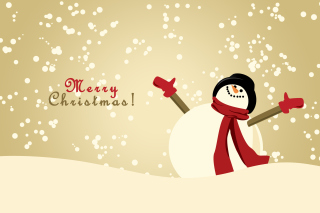 Merry Christmas Wishes from Snowman - Obrázkek zdarma pro Widescreen Desktop PC 1600x900
