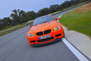 Orange BMW Wallpaper for Android, iPhone and iPad