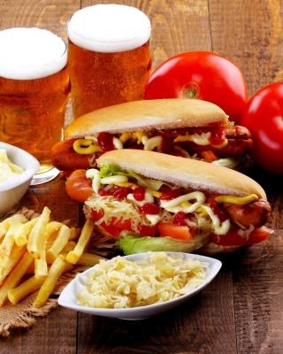 Hot Dog Sandwich - Obrázkek zdarma pro 352x416