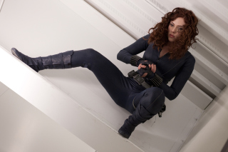 Scarlett Johansson as Black Widow - Obrázkek zdarma pro Samsung Galaxy Ace 4