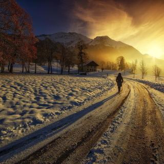 Winter Sunrise - Obrázkek zdarma pro 128x128