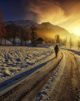 Winter Sunrise - Obrázkek zdarma pro 176x220