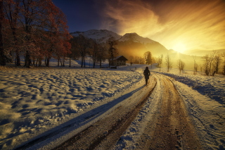 Kostenloses Winter Sunrise Wallpaper für Android, iPhone und iPad