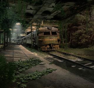 Abandoned Train - Obrázkek zdarma pro iPad