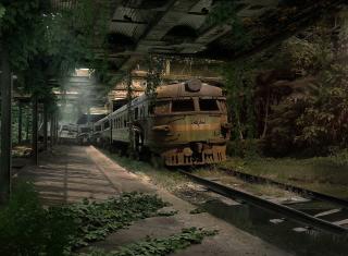 Abandoned Train - Obrázkek zdarma pro Sony Xperia E1