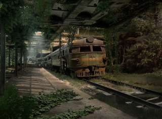 Abandoned Train - Obrázkek zdarma pro Samsung Google Nexus S 4G