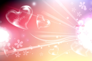 Flying Hearts Wallpaper for Nokia Asha 200