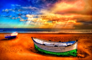 Seascape And Boat Wallpaper for Android, iPhone and iPad
