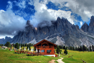 Alps House Background for Android, iPhone and iPad