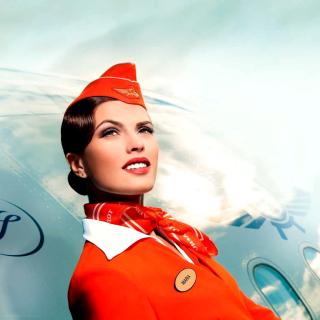 Aeroflot Russian Girl - Obrázkek zdarma pro iPad Air