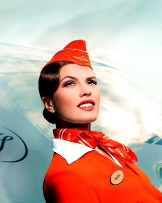Aeroflot Russian Girl - Obrázkek zdarma pro Nokia X2-02