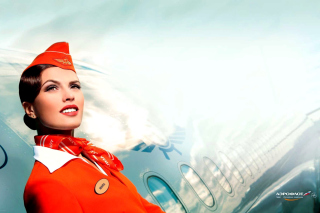 Free Aeroflot Russian Girl Picture for Android, iPhone and iPad