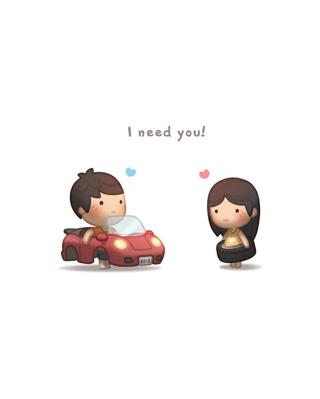 I need you - Obrázkek zdarma pro Nokia X2
