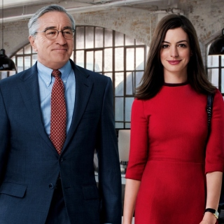 The Intern, Robert De Niro and Anne Hathaway - Obrázkek zdarma pro iPad mini 2