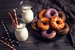 Halloween Donuts sfondi gratuiti per cellulari Android, iPhone, iPad e desktop