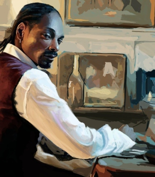 Snoop Dog Portrait Painting - Obrázkek zdarma pro 480x640