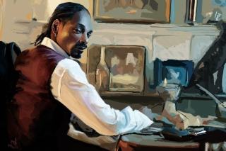 Snoop Dog Portrait Painting - Obrázkek zdarma pro Widescreen Desktop PC 1920x1080 Full HD