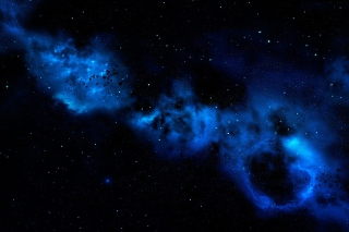 Blue Space Cloud Background for Android, iPhone and iPad