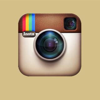 Instagram Symbol - Obrázkek zdarma pro iPad Air