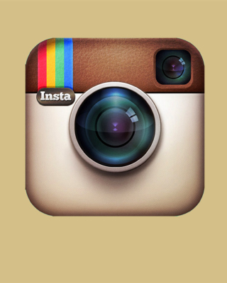 Instagram Symbol - Obrázkek zdarma pro 352x416