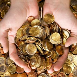Euro cent coins - Obrázkek zdarma pro 208x208