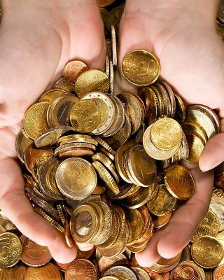 Euro cent coins - Obrázkek zdarma pro 240x320