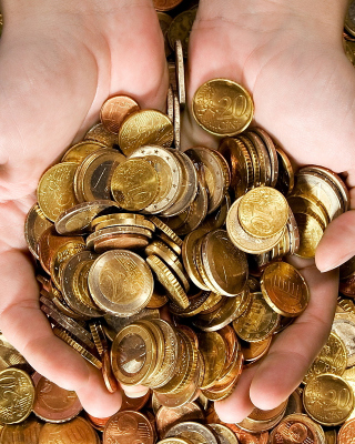 Euro cent coins - Obrázkek zdarma pro Nokia C3-01 Gold Edition