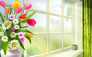 Free Summer Flowers Illustration Picture for Android, iPhone and iPad