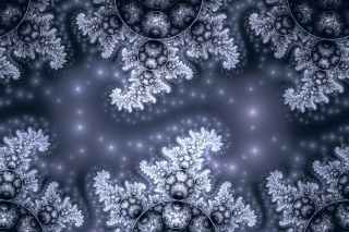 Snow Fractals Abstract - Obrázkek zdarma pro 480x360
