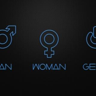 Man Woman Geek Signs - Obrázkek zdarma pro iPad mini