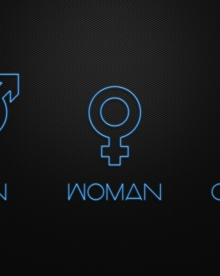 Man Woman Geek Signs - Obrázkek zdarma pro 320x480