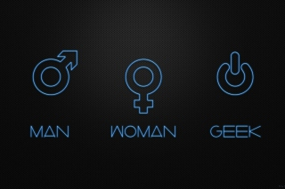 Man Woman Geek Signs Wallpaper for Android, iPhone and iPad