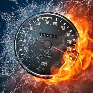 Fire Speedometer - Obrázkek zdarma pro 2048x2048