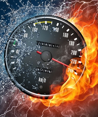 Fire Speedometer - Obrázkek zdarma pro 360x480
