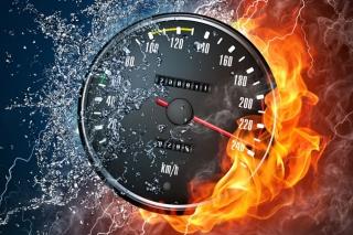 Fire Speedometer - Obrázkek zdarma pro 220x176