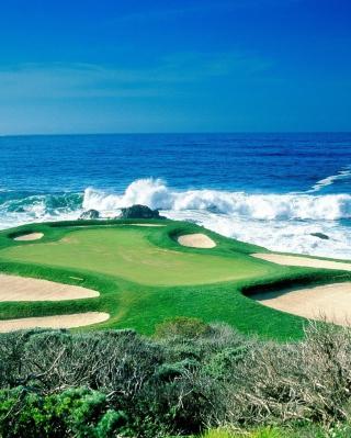 Golf Field By Sea - Obrázkek zdarma pro Nokia X1-01