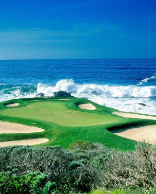 Golf Field By Sea - Obrázkek zdarma pro iPhone 5
