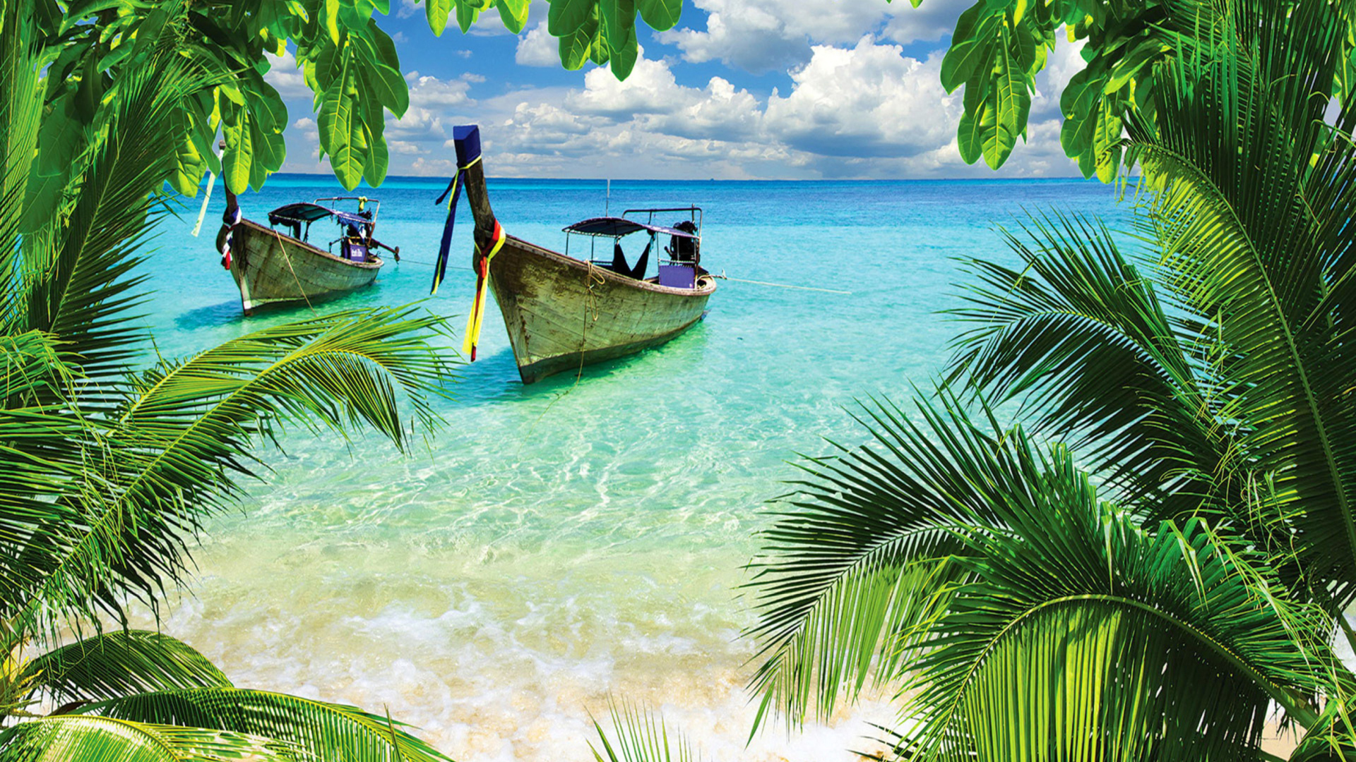 Tropical beach in curacao sfondi gratuiti per desktop for Immagini 1920x1080