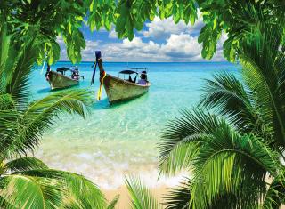 Tropical Beach In Curacao - Fondos de pantalla gratis para LG E400 Optimus L3