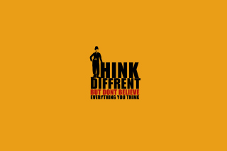 Think Different But Don't Believe Everything You Think Picture for Android, iPhone and iPad