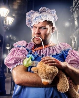 Cook with teddy bear - Obrázkek zdarma pro Nokia C2-01