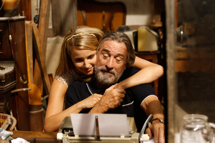 Robert de Niro and Dianna Agron in The Family wallpaper