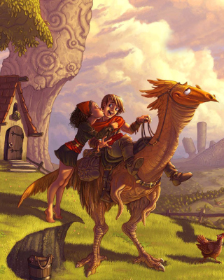 Dragon Riders - Obrázkek zdarma pro Nokia Asha 202