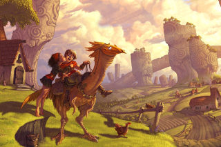 Dragon Riders Wallpaper for Android, iPhone and iPad