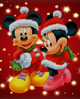 Mickey And Mini Mouse Christmas Time - Obrázkek zdarma pro iPhone 6 Plus