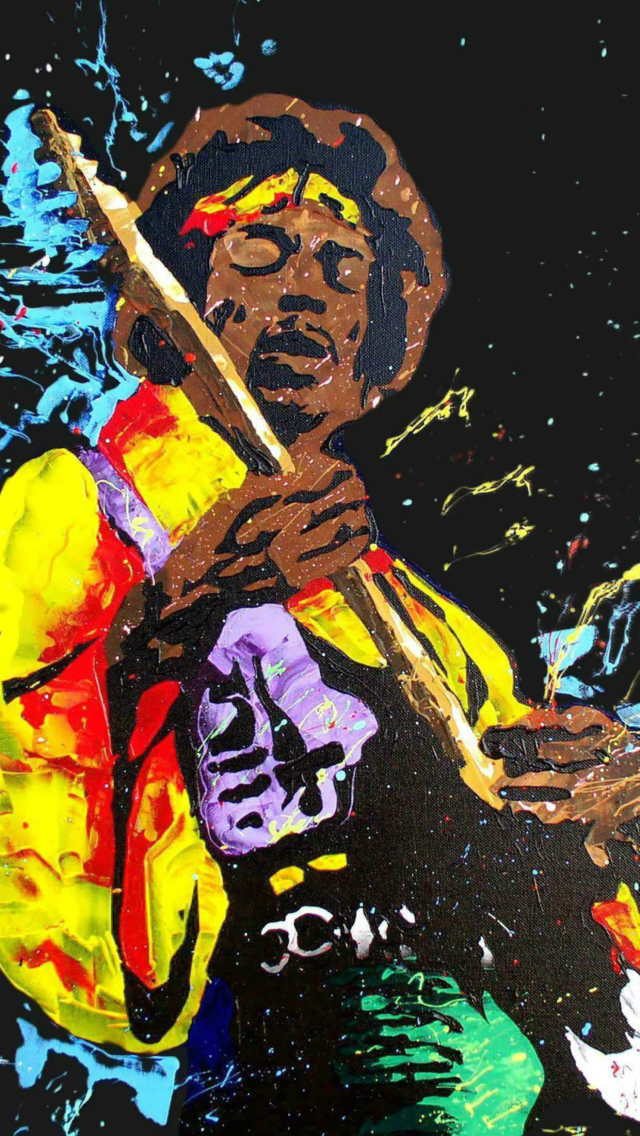 Jimi Hendrix Painting Wallpaper For Iphone 5