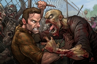Free The Walking Dead Zombie Picture for Android, iPhone and iPad